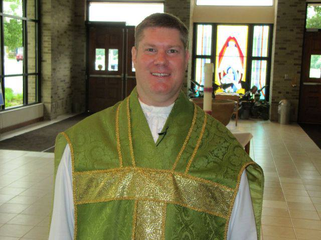 Father McCarthy, Saint Ann Pastor inviting you to attend our parish and its celebrations